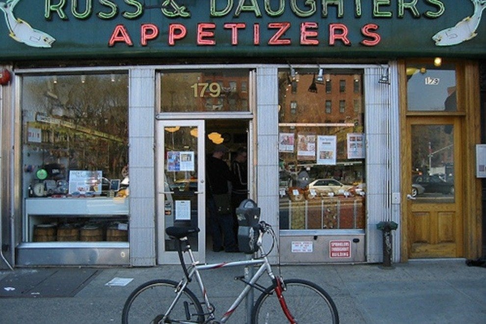 Russ & Daughters Appetizers and Russ & Daughters Cafe