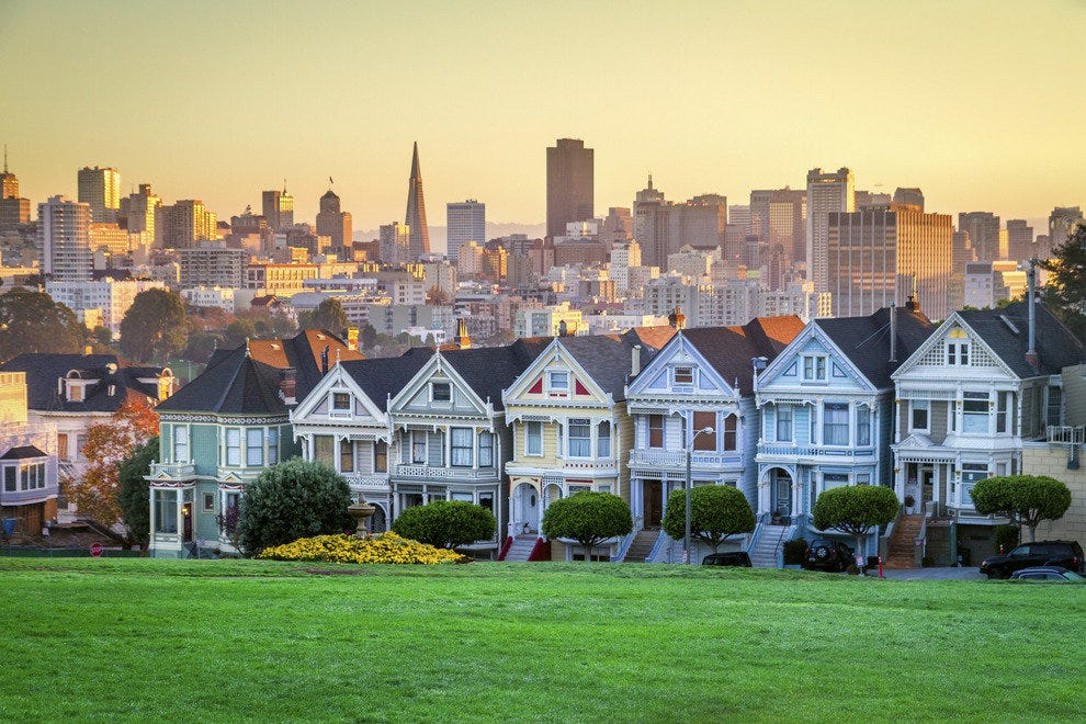 "The Painted Ladies, as seen in the opening credits of the hit sitcom ""Full House"""