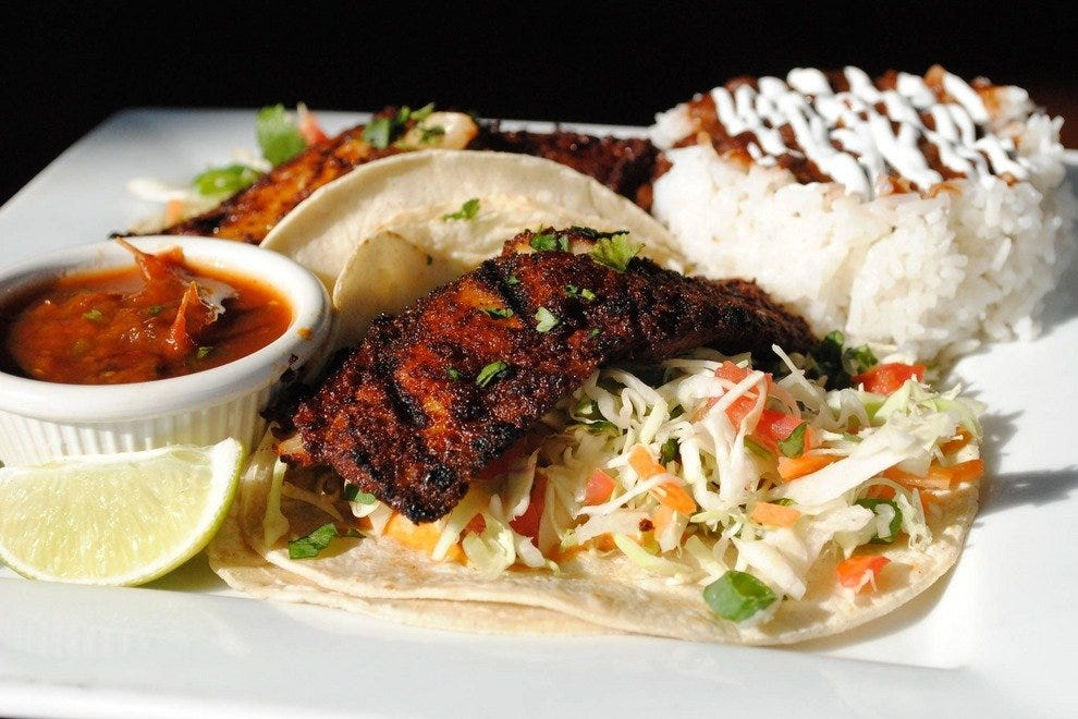 Fresh fish tacos are on the menu at Hula's Modern Tiki, which just opened a new location in Scottsdale