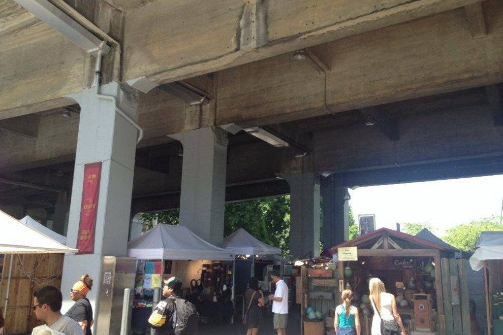 Portland Saturday Market under the bridge