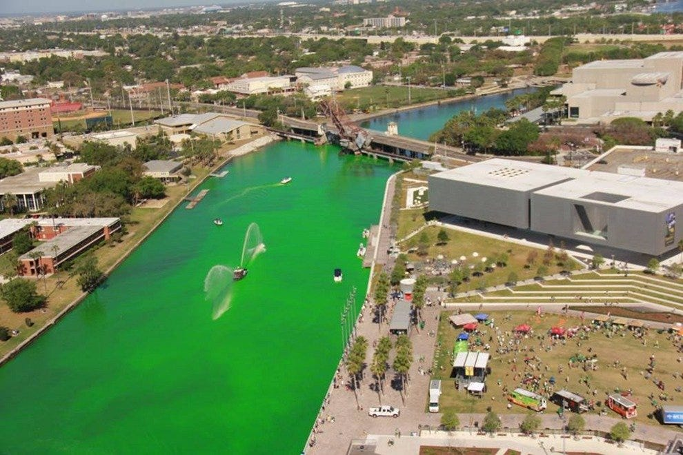 Watch the river turn green and enjoy the family-friendly celebration of St. Patrick's Day