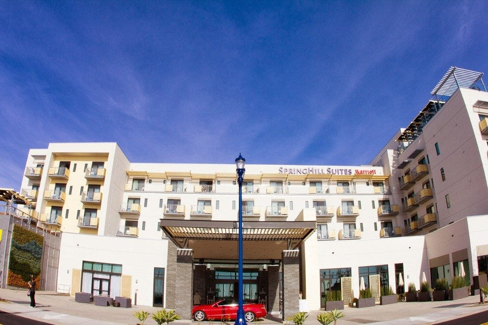 Springhill Suites In Oceanside Is A Quick Walk From The Beach Photo Courtesy Of San Go Downtown