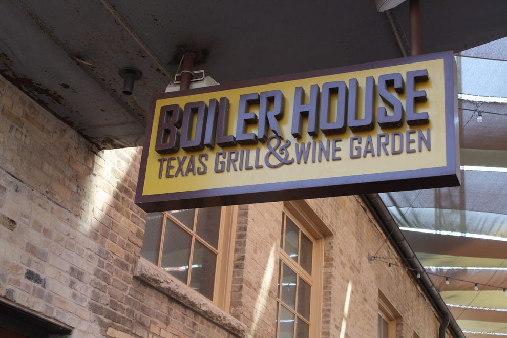 Boiler house grill wine garden 28 images awesome bar for Wine and paint san antonio