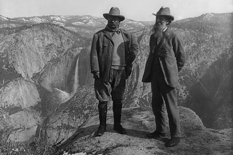 John Muir bends the ear of Teddy Roosevelt