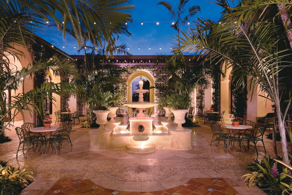 Palm Courtyard at The Breakers