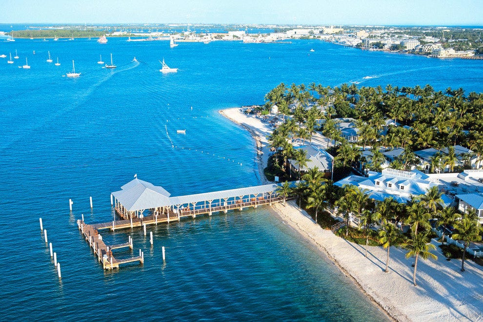 Aerial view of Sunset Key Guest Cottages