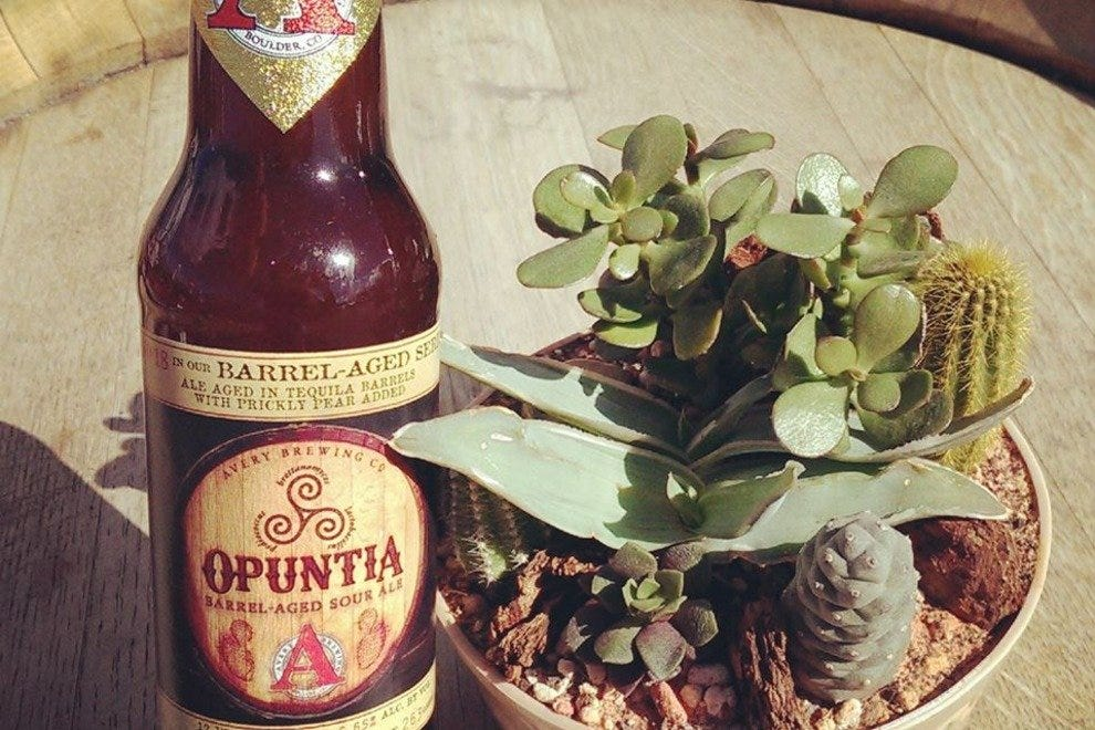 A bottle of Opuntia at Avery Brewing Company