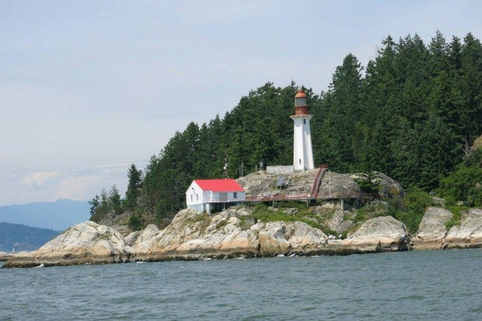 Lighthouse Park in Vancouver, from the water