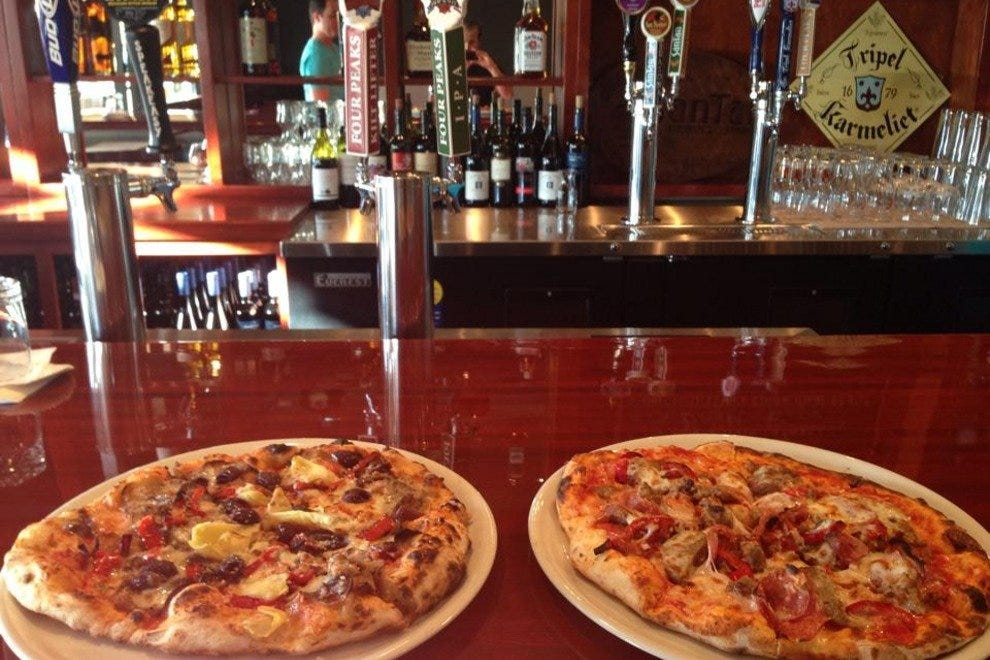 Wood-fired pizza is the main attraction at Il Capo