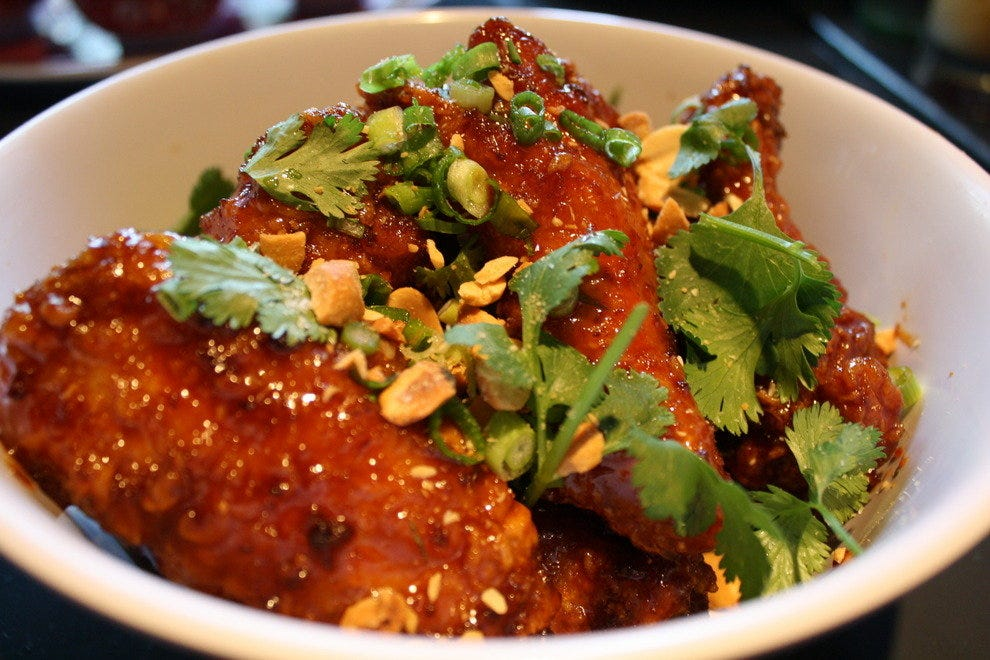 Hot Joy's Twice-Fried Chicken Wings with Crab Fat Caramel