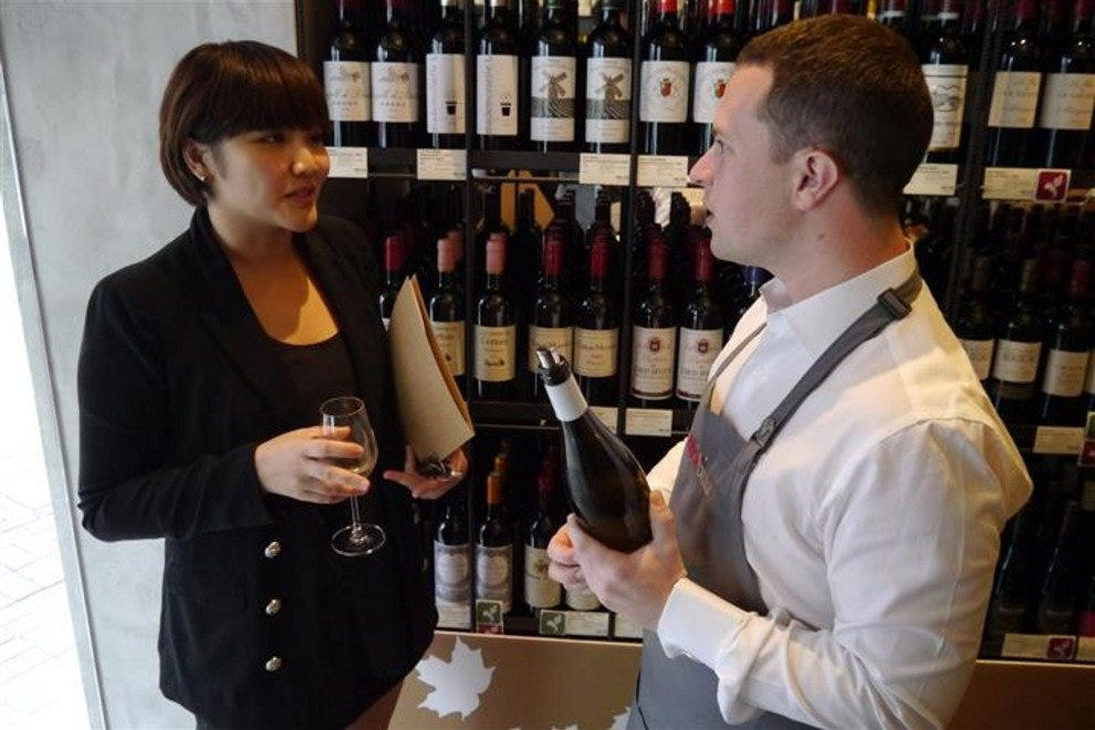 Sommelier Vincent Feron explains some of the finer points of wine