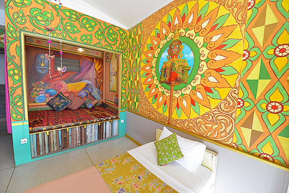 Colorful room in Phra-Nakorn Norn-Len