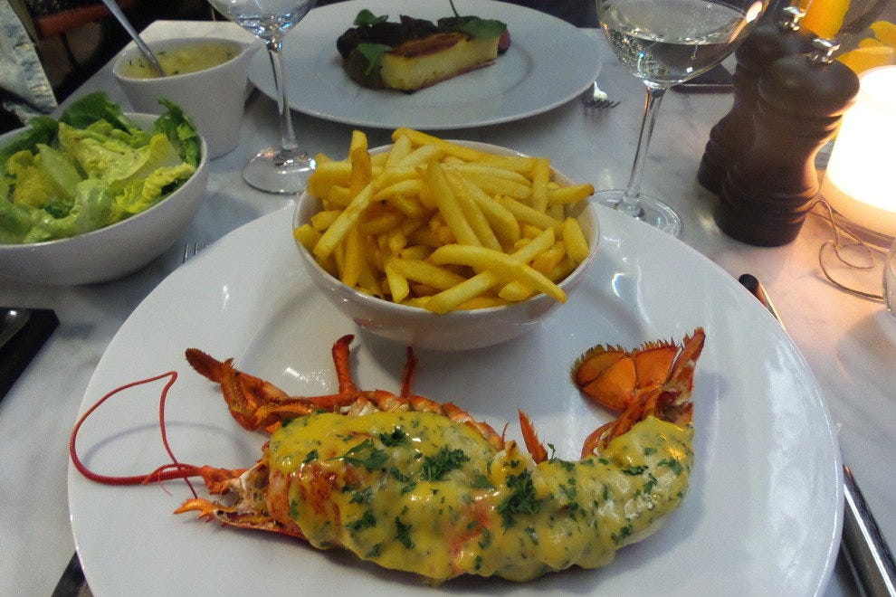 Delicious lobster termidor