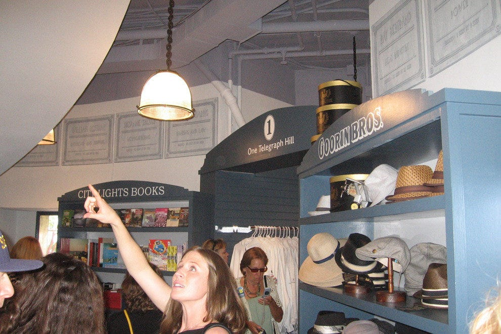 Visitors enjoy the refurbished gift shop at Coit Tower.