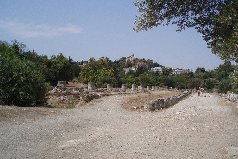 View of Athens Observatory from the Ancient Agora