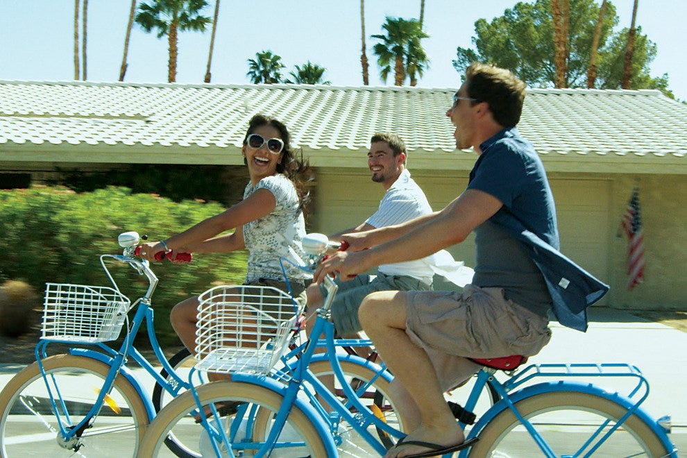 Palm Springs has the perfect weather for a bicycle ride all year long