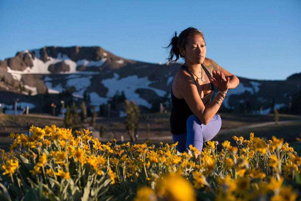 Take your yoga practice outdoors at Squaw Valley