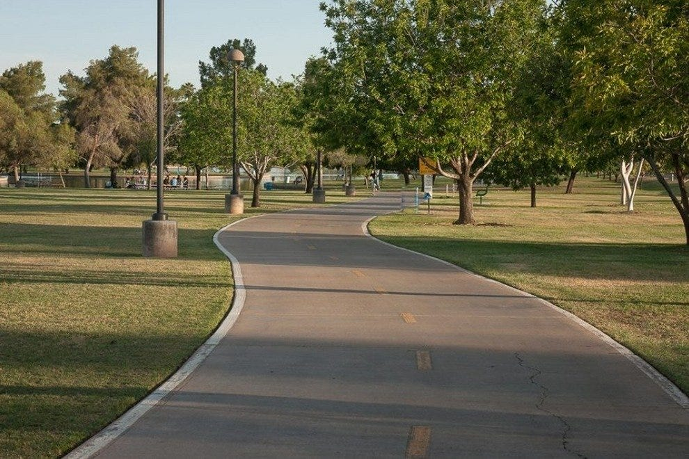 The bike path at Chaparral Park in Scottsdale