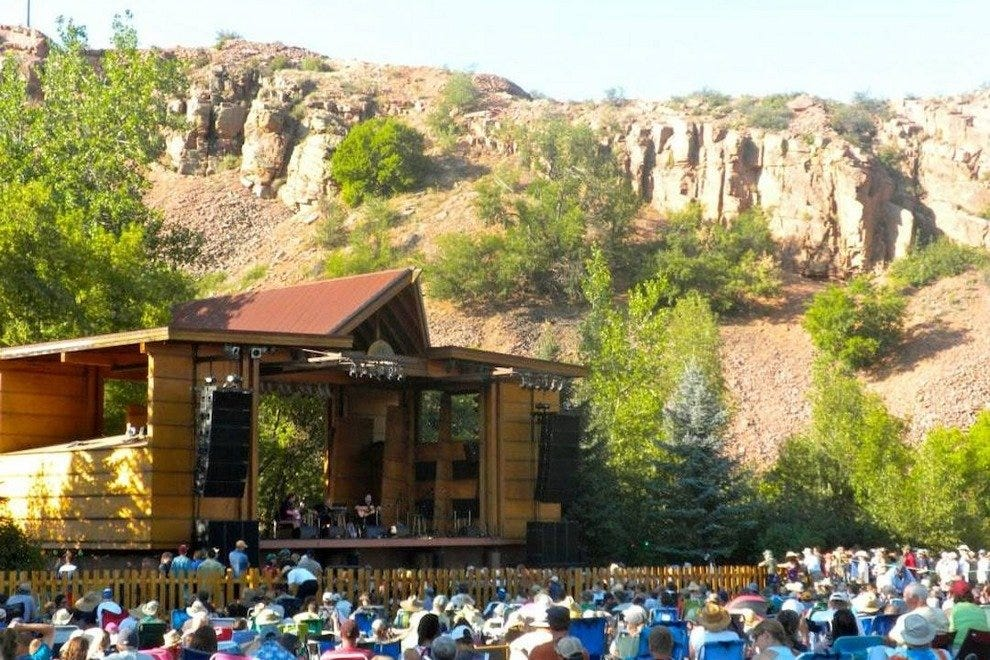 The Planet Bluegrass stage in Lyons