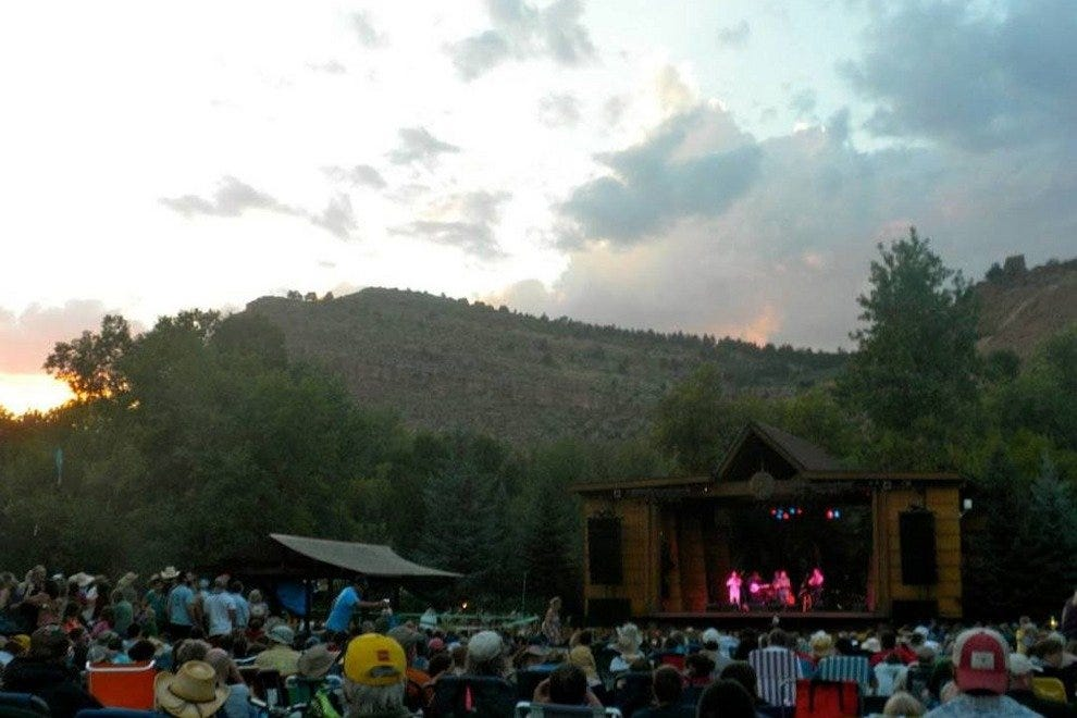 Sunset over RockyGrass