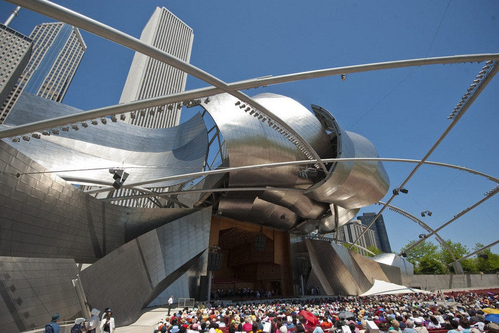 Frank Gehry's inspired design creates a world class venue in Chicago's Millennium Park
