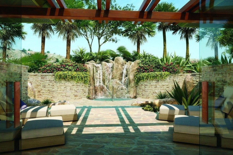 The waterfall at the Ritz-Carlton Rancho Mirage's freestanding spa