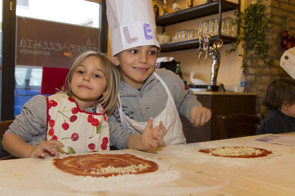 Kids can now make their own pizza in Rome