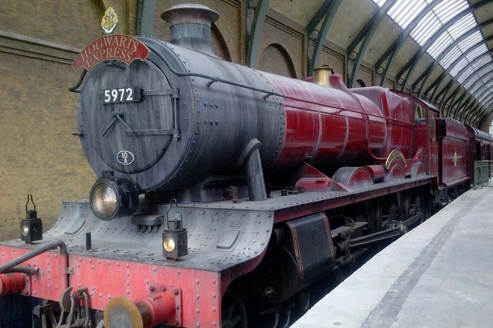 Riders on the Hogwarts Express will see the Weasley twins, Hagrid and the centaurs of the Forbidden Forest, among other scenery and characters along their journeys.