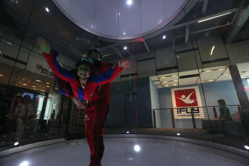 Children as young as three have experienced iFLY