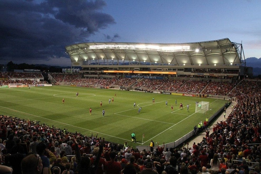 Rio Tinto Stadium in Sandy, Utah