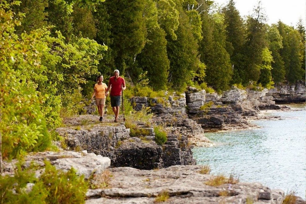 Surrounded by Lake Michigan, Door County features 300 miles of shoreline
