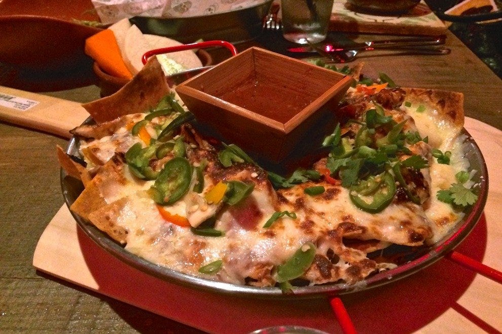 Skillet Nachos at Saint Anejo in the MStreet district at 12th and McGavock corner