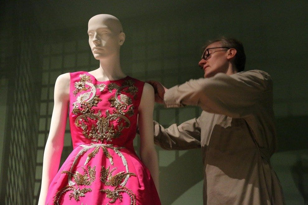 "One of many exquisite fashion pieces to be on display at the exhibit ""Oscar de la Renta: Five Decades of Style"""