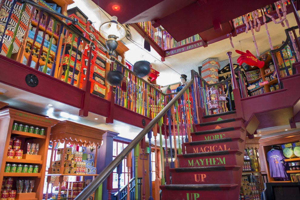 Muggles are welcome to shop at Weasley's Wizard Wheezes, which sells items many fans will remember from the books and films.