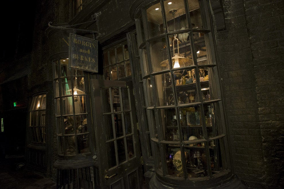 Practitioners of the Dark Arts will revel in the shopping opporunities at the infamous Borgin and Burkes.