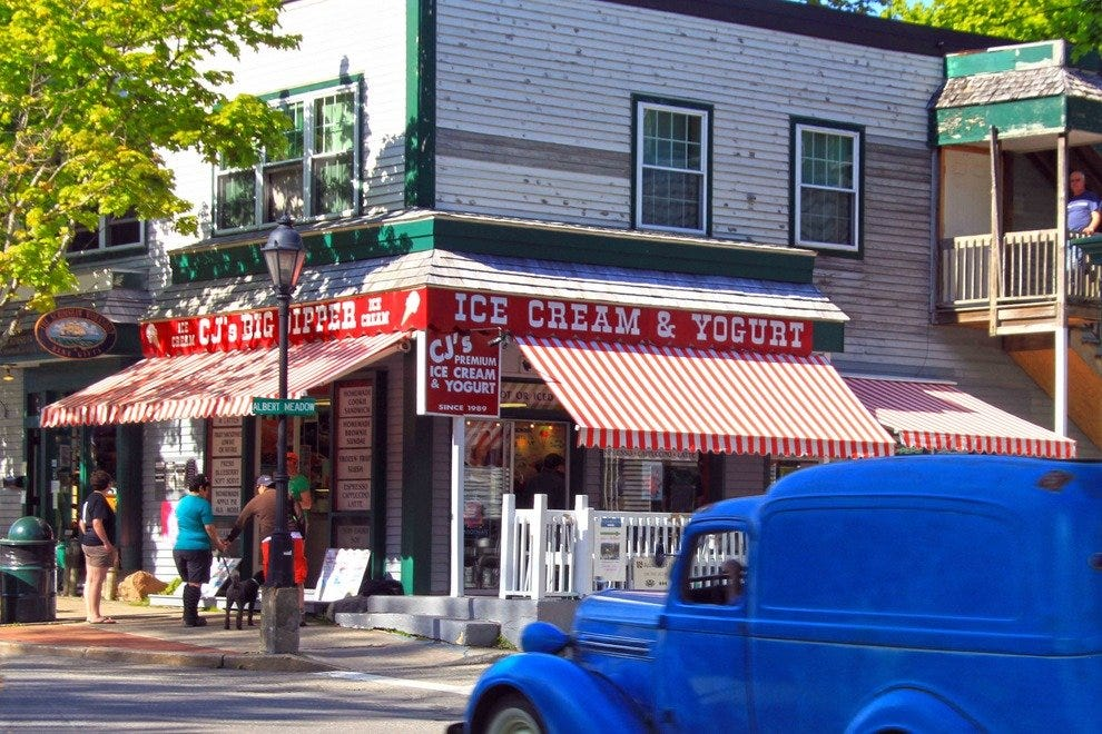 Ice cream is a must in Bar Harbor