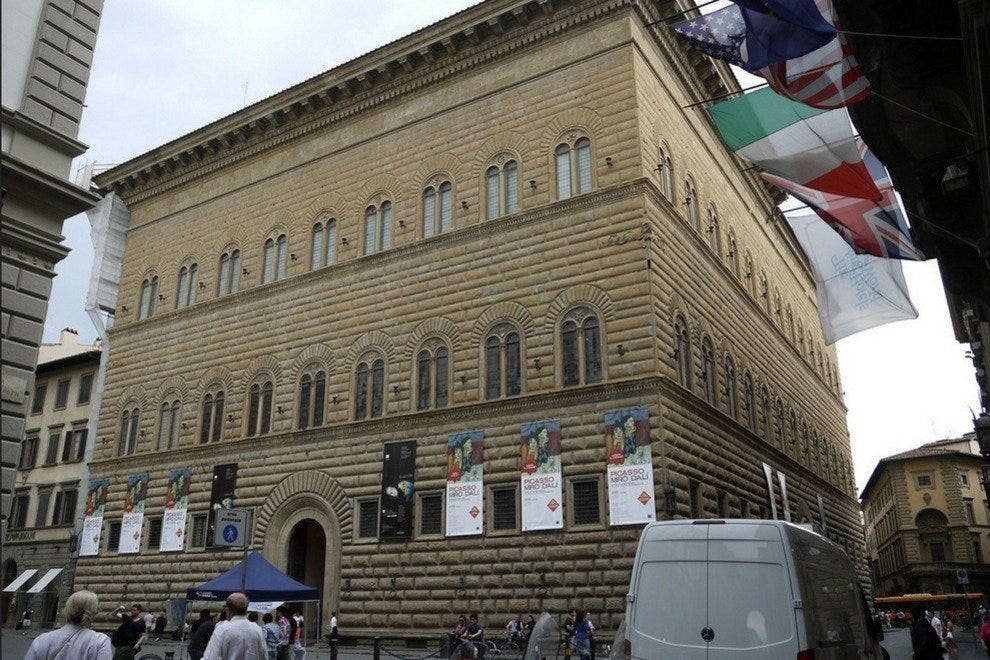 The exterior of Strozzi Palace in Florence