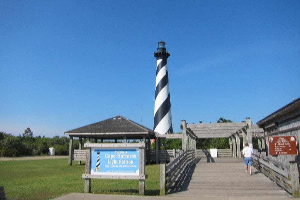 Hatteras Lighthouse is one of five navigational beacons in the Outer Banks