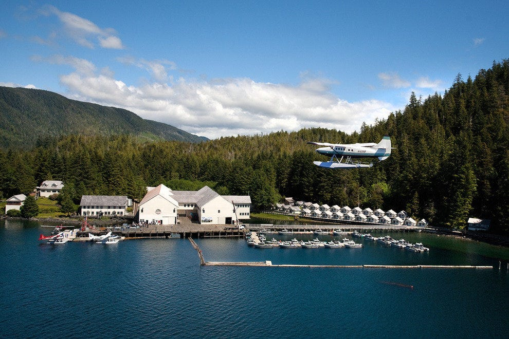 Arrival at Waterfall Resort is by float plane.