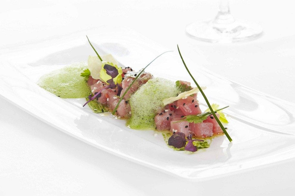 Tuna tartar with coriander and sesame