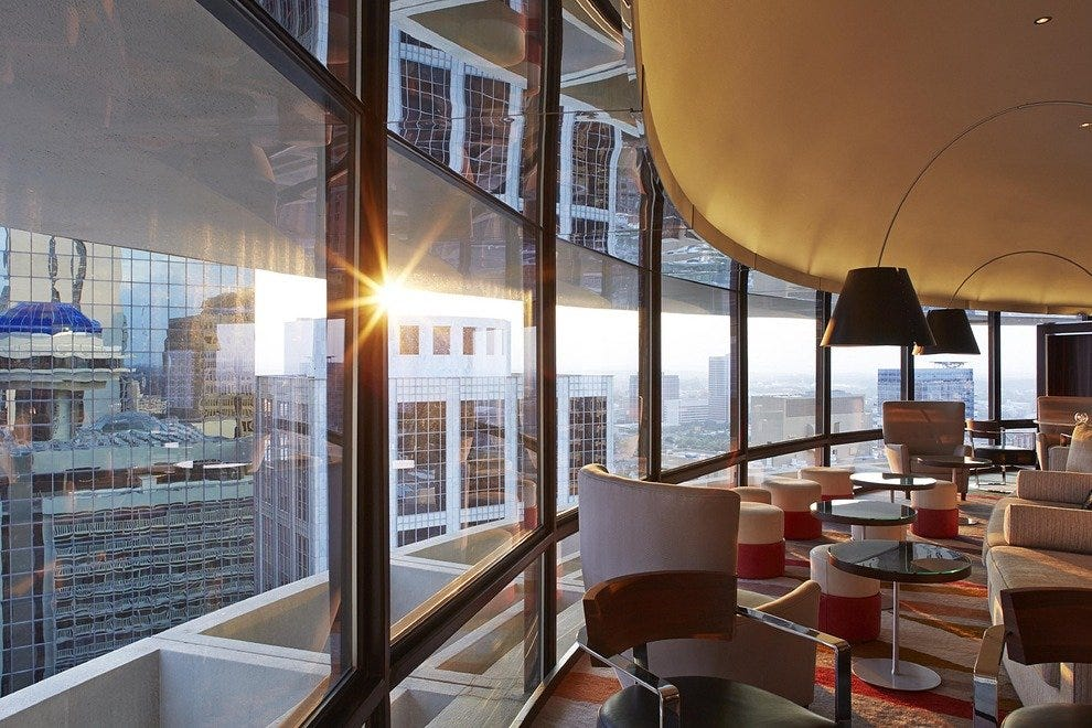 Polaris' upscale interiors offer an incomparable view of the city