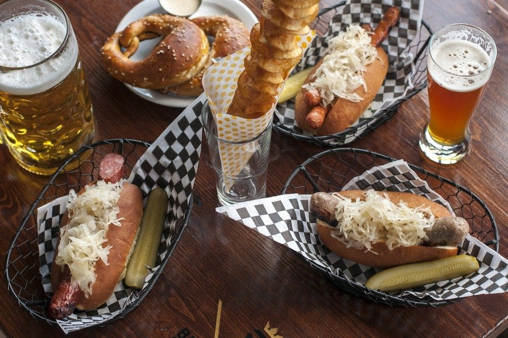 Beers and brats make patrons' day at this festive Seattle venue
