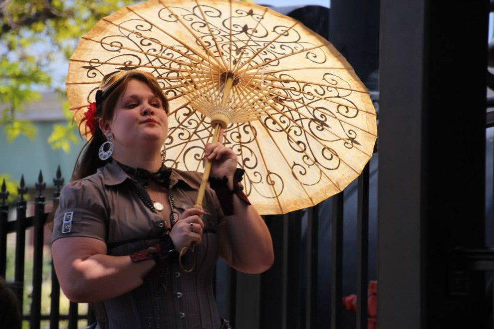 Victorian manners mix with a punk attitude during steampunk events