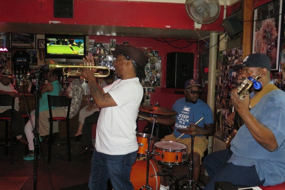 Kermit Ruffins plays just about every Tuesday night at Bullet's