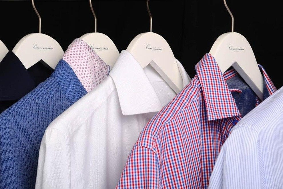 Slim-fit European shirts like Camicissima's are all the rage