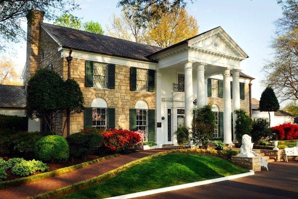 Elvis Presley's Graceland mansion, site of the annual candlelight vigil that marks his death