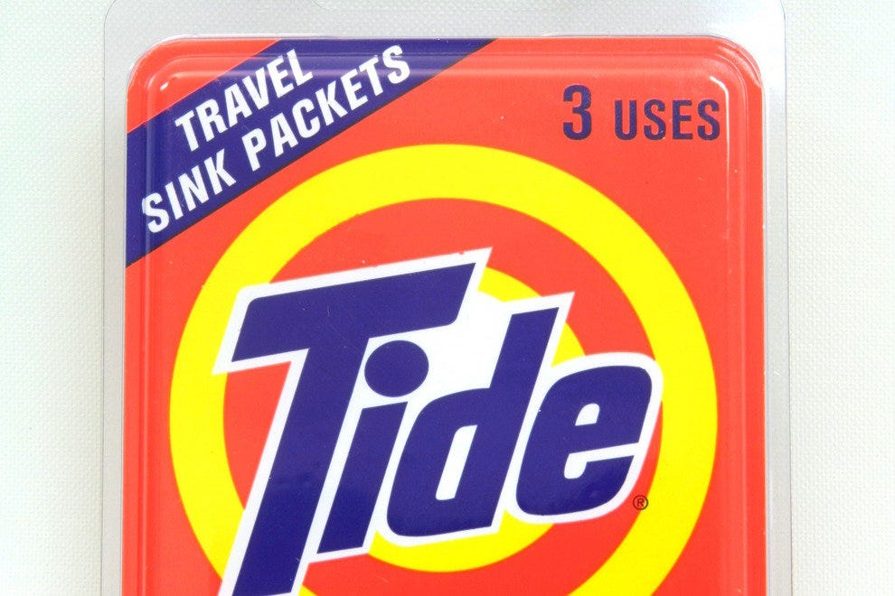 No washing machine in your hotel room? These detergent packets are sink-suitable.