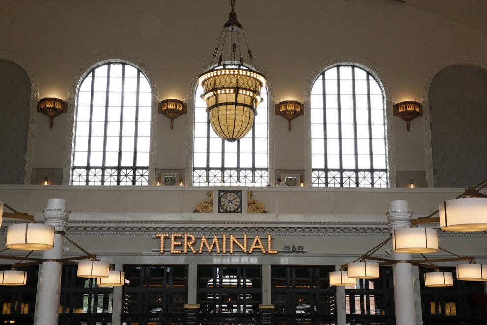 Terminal Bar is located in the former ticket office of Union Station