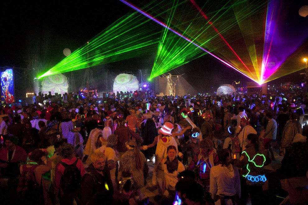 A rave in Black Rock City