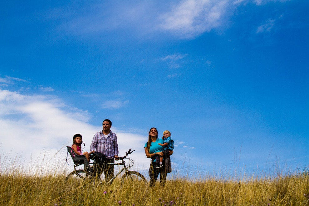 The Camper Clan is a family of four with a goal to break the World Record for the longest bicycle journey.